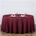 "Econoline Burgundy 132"" Round Tablecloth"