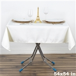"54"" x 54"" Wonderful Wrinkle and Stain Resistant Value Plus Polyester Tablecloth - Ivory"
