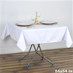 "54"" x 54"" Wonderful Wrinkle and Stain Resistant Value Plus Polyester Tablecloth - White"