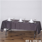 Econoline Charcoal Gray Tablecloth 60x102""