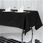 "60x102"" Seamless Value Plus Polyester Tablecloth - Black"