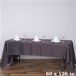 Econoline Charcoal Gray Tablecloth 60x126""
