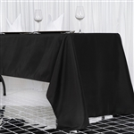 "60x126"" Seamless Value Plus Polyester Tablecloth - Black"
