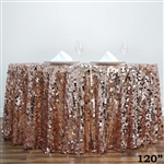 "120"" Blush Wholesale Big Payette Sequin Round Tablecloth for Wedding Banquet Party"