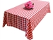 "Perfect Picnic Inspired Red/White Checkered 60x102"" Polyester Tablecloths"