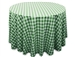 "Perfect Picnic Inspired Green/White Checkered 90"" Round Polyester Tablecloths"