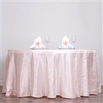 "Blush 117"" Crinkle Taffeta Round Tablecloth"