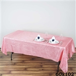 Rose Quartz Crinkle Taffeta Tablecloth 60x102""