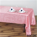 Rose Quartz Crinkle Taffeta Tablecloth 60x126""
