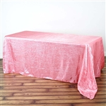 Rose Quartz Crinkle Taffeta Tablecloth 90x156""