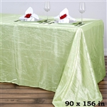 Tea Green Crinkle Taffeta Tablecloth 90x156""