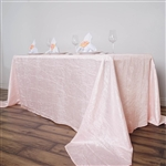 Blush Crinkle Taffeta Tablecloth 90x156""