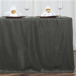 Econoline 6 foot Fitted Tablecloths - Charcoal Grey