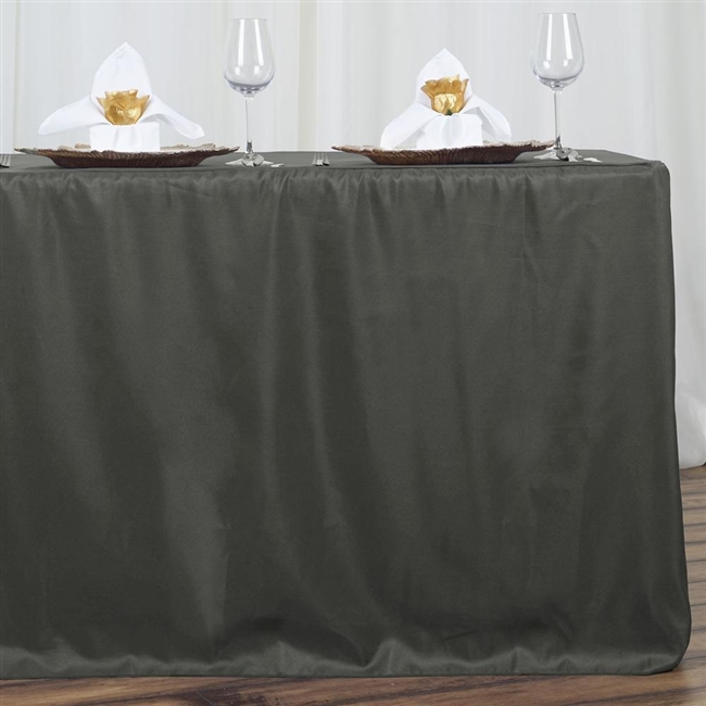 Superbe Buy Fitted SAGE Polyester Tablecloth Online   Charcoal Grey