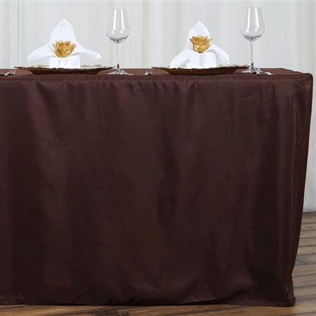 Econoline 6 foot Fitted Tablecloths - chocolate