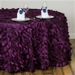 "120"" Round Petals Circle (Flamingo) Tablecloth - Eggplant"