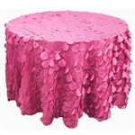 "120"" Round Petals Circle (Flamingo) Tablecloth - Fushia"