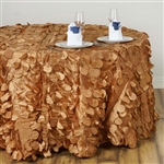 "120"" Round Petals Circle (Flamingo) Tablecloth - Gold"