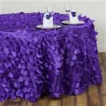 "120"" Round Petals Circle (Flamingo) Tablecloth - Purple"