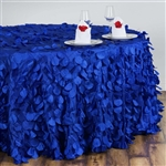 "120"" Round Petals Circle (Flamingo) Tablecloth - Royal Blue"