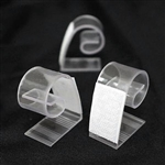 "12 PCS 1.2"" Adjustable Clear Plastic Table Skirt Clips"
