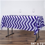 "54""x72"" Purple Wholesale Waterproof Chevron Plastic Vinyl Tablecloth"