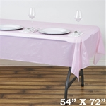 "54"" x 72"" Wholesale Pink 10mil Thick Waterproof Plastic Vinyl Tablecloth For Outdoor Party Events"