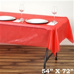 "54"" x 72"" Wholesale Red 10mil Thick Waterproof Plastic Vinyl Tablecloth For Outdoor Party Events"
