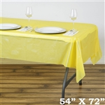 "54"" x 72"" Wholesale Yellow 10mil Thick Waterproof Plastic Vinyl Tablecloth For Outdoor Party Events"