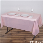 "54"" x 72"" Wholesale Blush 10mil Thick Waterproof Plastic Vinyl Tablecloth For Outdoor Party Events"