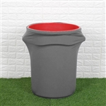 41-50 Gallons Charcoal Gray Stretch Spandex Round Trash Bin Container Cover