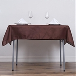"54"" Chocolate Wholesale Polyester Square Linen Tablecloth For Banquet Party Restaurant"