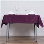 "54"" Eggplant Wholesale Polyester Square Linen Tablecloth For Banquet Party Restaurant"