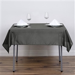"54"" Charcoal Gray Wholesale Polyester Square Linen Tablecloth For Banquet Party Restaurant"