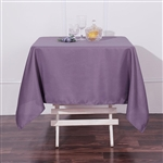 "54"" Violet Amethyst Wholesale Polyester Square Linen Tablecloth For Banquet Party Restaurant"