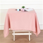 "54"" Dusty Rose Wholesale Polyester Square Linen Tablecloth For Banquet Party Restaurant"