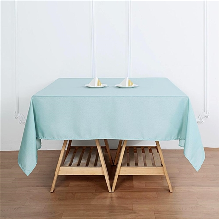 "54"" Dusty Sage Wholesale Polyester Square Linen Tablecloth For Banquet Party Restaurant"