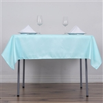 "54"" Blue Wholesale Polyester Square Linen Tablecloth For Banquet Party Restaurant"