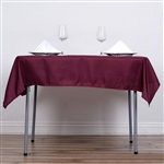 "54"" Burgundy Wholesale Polyester Square Linen Tablecloth For Banquet Party Restaurant"