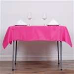 "54"" Fushia Wholesale Polyester Square Linen Tablecloth For Banquet Party Restaurant"