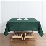 "54"" Hunter Emerald Green Wholesale Polyester Square Linen Tablecloth For Banquet Party Restaurant"