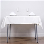 "54"" Ivory Wholesale Polyester Square Linen Tablecloth For Banquet Party Restaurant"