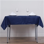 "54"" Navy Blue Wholesale Polyester Square Linen Tablecloth For Banquet Party Restaurant"