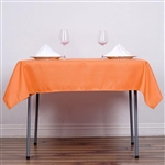"54"" Orange Wholesale Polyester Square Linen Tablecloth For Banquet Party Restaurant"