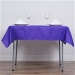"54"" Purple Wholesale Polyester Square Linen Tablecloth For Banquet Party Restaurant"