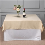 "70"" Beige Wholesale Polyester Square Linen Tablecloth For Wedding Party Restaurant"