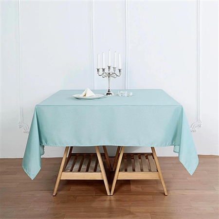 "70"" Dusty Sage Wholesale Polyester Square Linen Tablecloth For Wedding Party Restaurant"