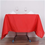 "70"" Red Wholesale Polyester Square Linen Tablecloth For Wedding Party Restaurant"