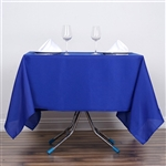 "70"" Royal Blue Wholesale Polyester Square Linen Tablecloth For Wedding Party Restaurant"
