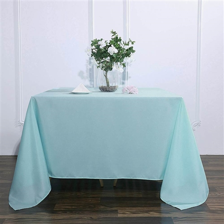 "90"" Dusty Sage Wholesale Polyester Square Linen Tablecloth For Banquet Party Restaurant"